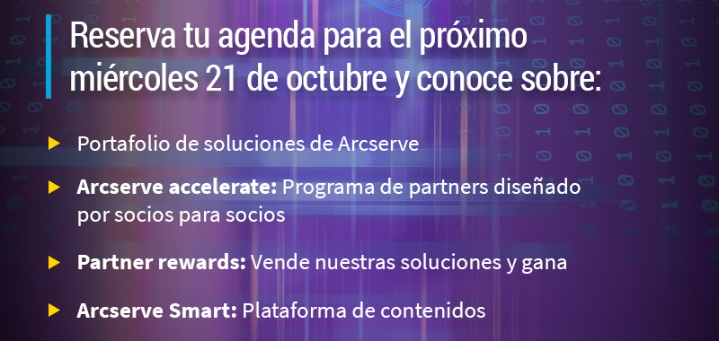 Reserva tu agenda para el próximo miércoles 21 de octubre